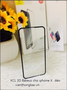 Kính cường lực 3D Baseus cho iphone X- dẻo