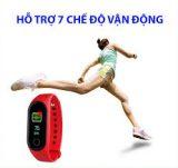 Đồng hồ thông minh smart band M3 đo nhịp tim, bước chân kết nối thông báo với điện thoại